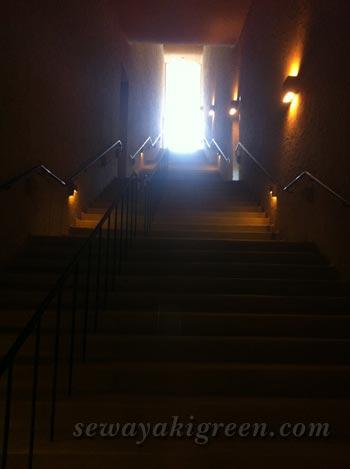 モザイクタイルミュージアム階段