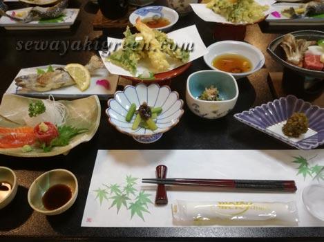 坂巻温泉旅館の食事