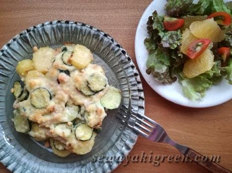 ズッキーニとジャガイモのグラタン