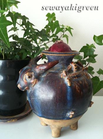 水牛の花器