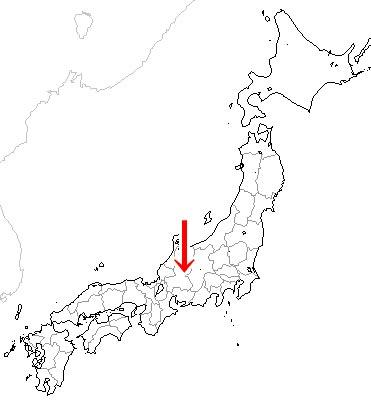 岐阜県下呂市の位置