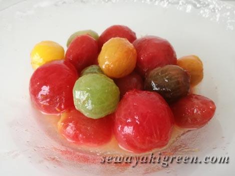 ミニトマトの塩マリネ