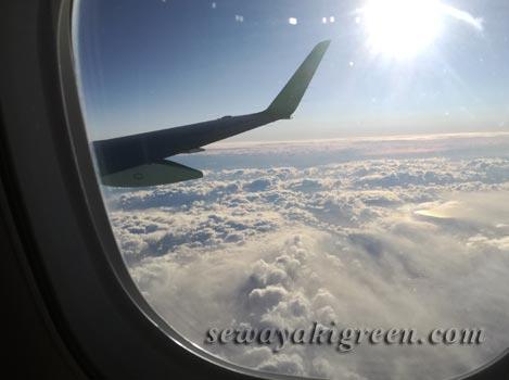 花巻空港へのフライト