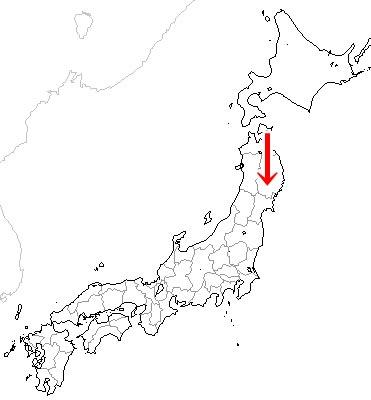 北上景勝地map